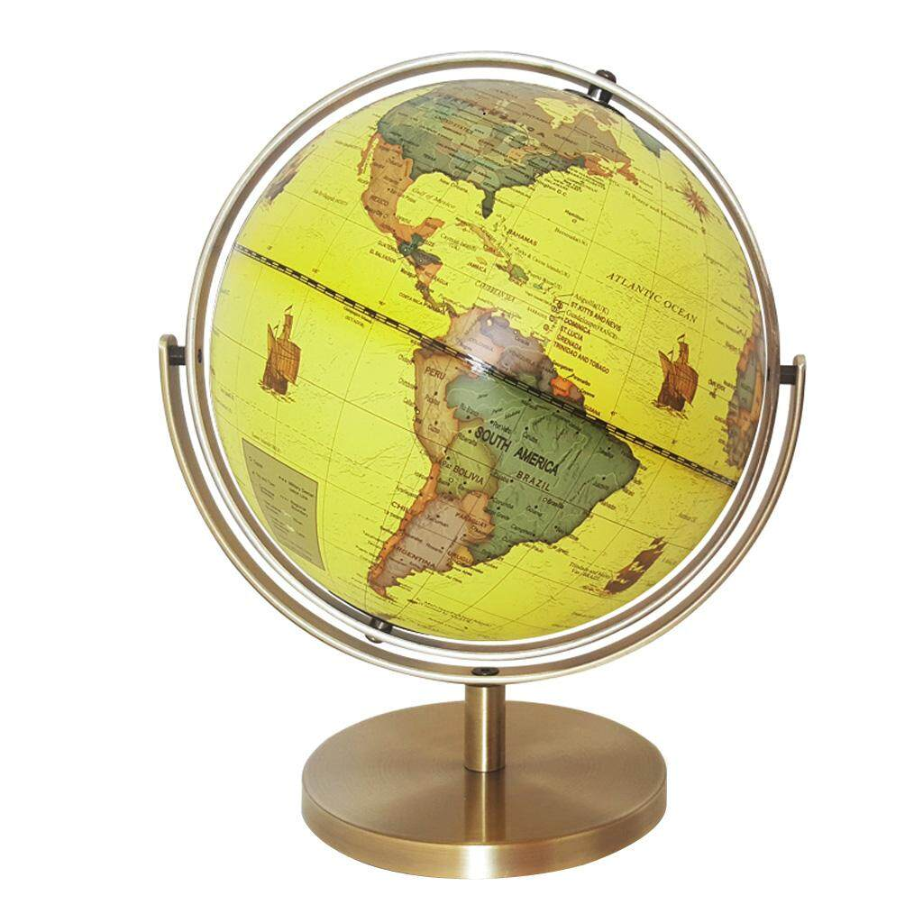 Buy at best price in malaysia lazada magideal 25cm abs geographical 720 degree rotate world map globe desktop decor yellow gumiabroncs Image collections