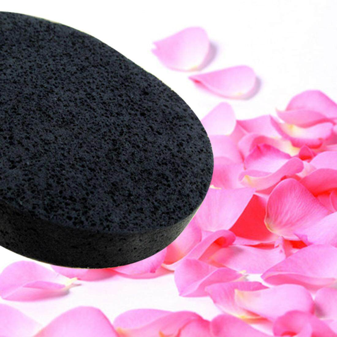 Features Natural Black Bamboo Sponge Beauty Facial Wash Cleaning Msi Charcoal 2pcs Cosmetic Puff Intl 3
