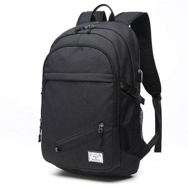 Men Canvas Multifunction Sport Bag Casual Rucksack 17 Basketball Backpack With Usb Charging Port Black Intl Free Shipping