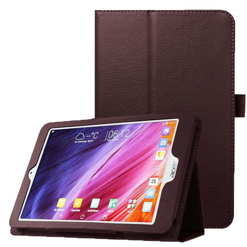 Litchi Texture Horizontal Flip Leather Case with Holder for Acer Iconia One 8 B1-820(Brown)
