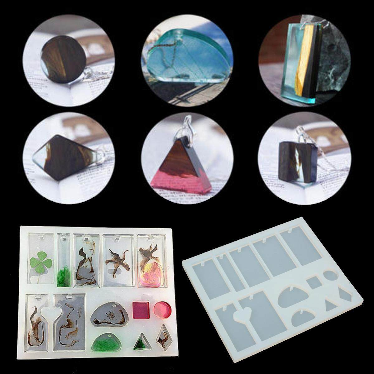 Mua DIY Crystal Geometric Jewelry Mold Pendant Silicone Ornament Resin Craft Making - intl