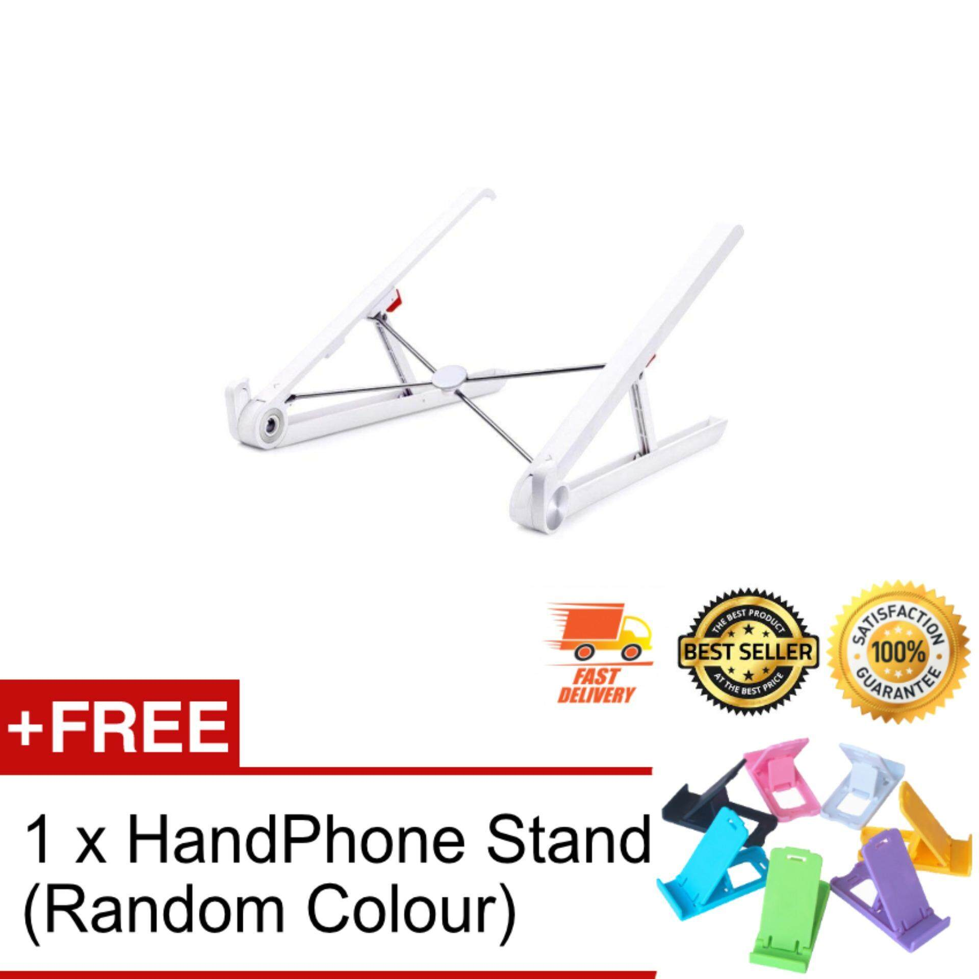 Fordable Adjustable Height Portable Notebook Holder Laptop Stand For Desk Adjustable Cooling Lightweight Compact Universal Fit For PC Macbook Computer