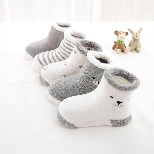 4 pcs Cute and Lovely Socks For Baby Kids Girls Boys aged 6months-18months