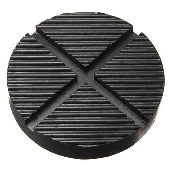 Black Rubber Car Truck Cross Slotted Frame Rail Floor Jack Disk Pad Adapter - intl