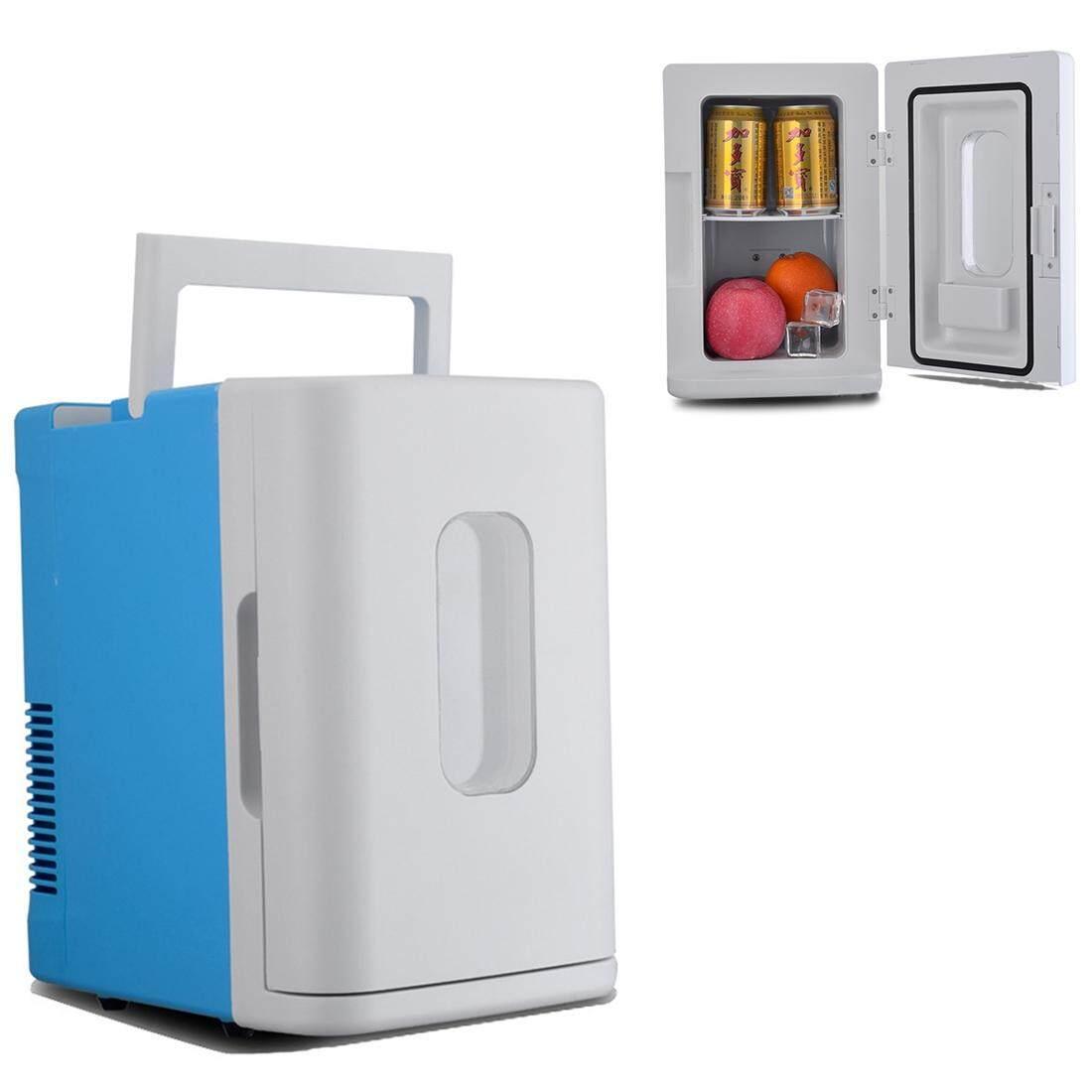 Vehicle Otomatis 68 W Maksimum Portabel Mini Cooler dan Lebih Hangat 10L Kulkas untuk Mobil dan Rumah, Tegangan: DC 12 V/AC 220 V (Biru + Putih)-Internasional