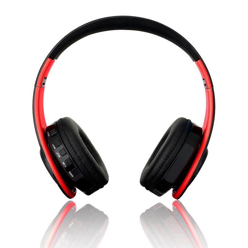 Nirkabel Bluetooth Stereo Headphone Dilipat EDR Earphone Mikrofon MP3 FM Headset untuk Pintar Phones Tablet