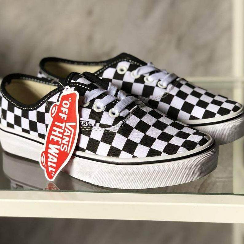 jual vans authentic checkerboard original