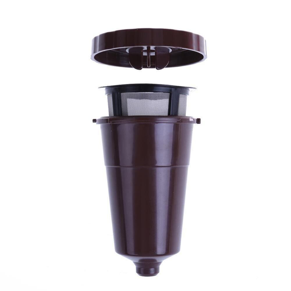 Saringan Kopi untuk K Cup Baja Anti Karat Dapat Dipakai Ulang PP dari Kapsul Kopi (