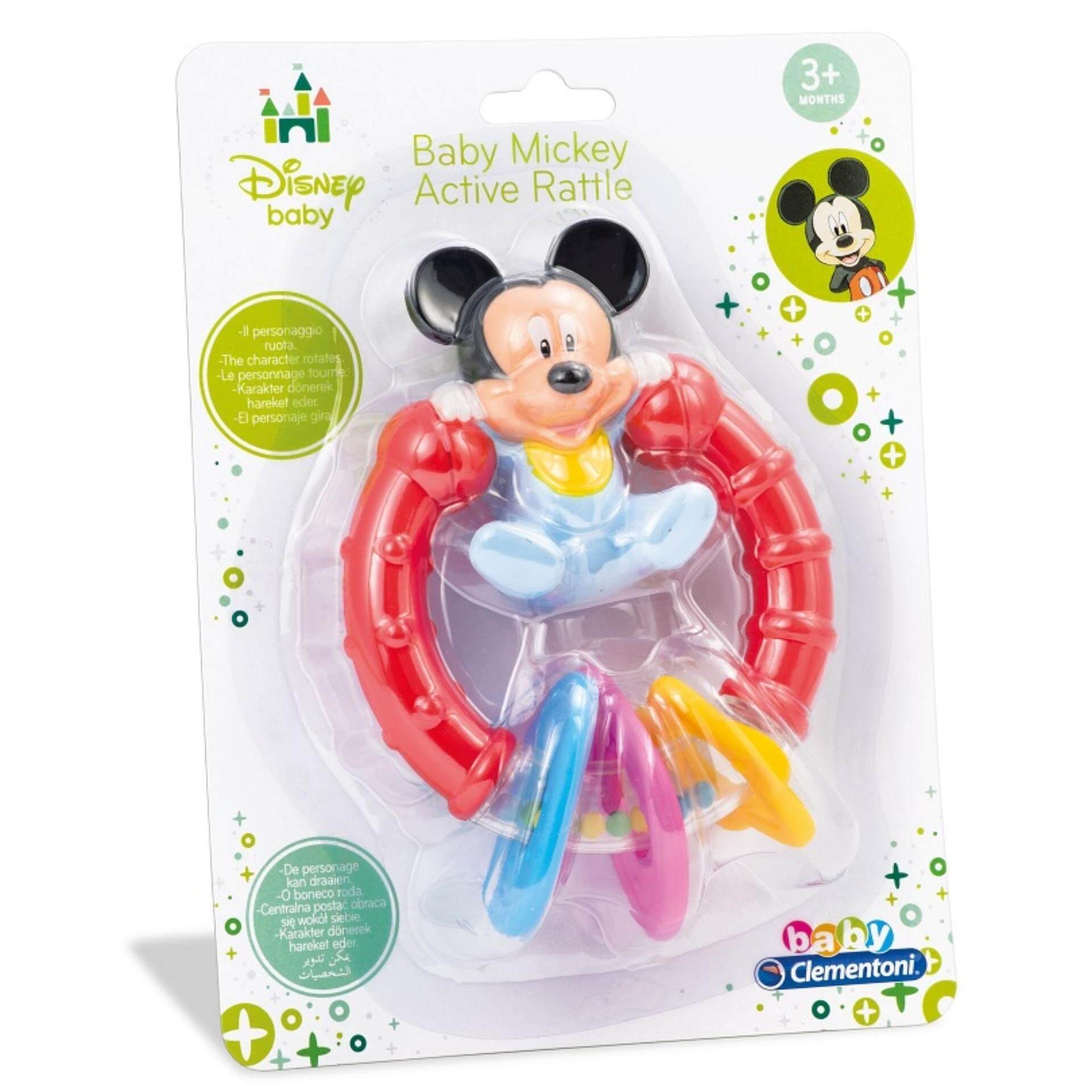 Disney Baby Safety Handbells Developmental Lovely Toys Rattle - Mickey baby toys
