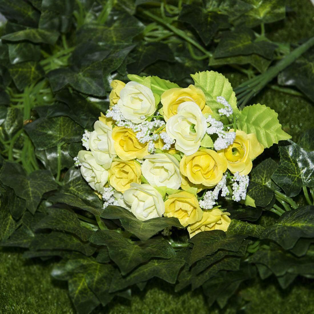 Buatan Mawar Fowers 21 Pcs Sutra Pernikahan Taman Dekorasi Rumah Bunga Pengaturan Dekorasi-Internasional .
