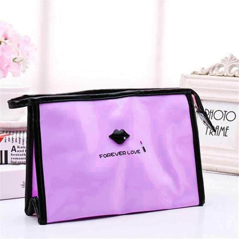 Portable PU Waterproof Travel Make Up Bag Travel Cosmetic Handbag Make up Pouch Toiletry Bag Clutch