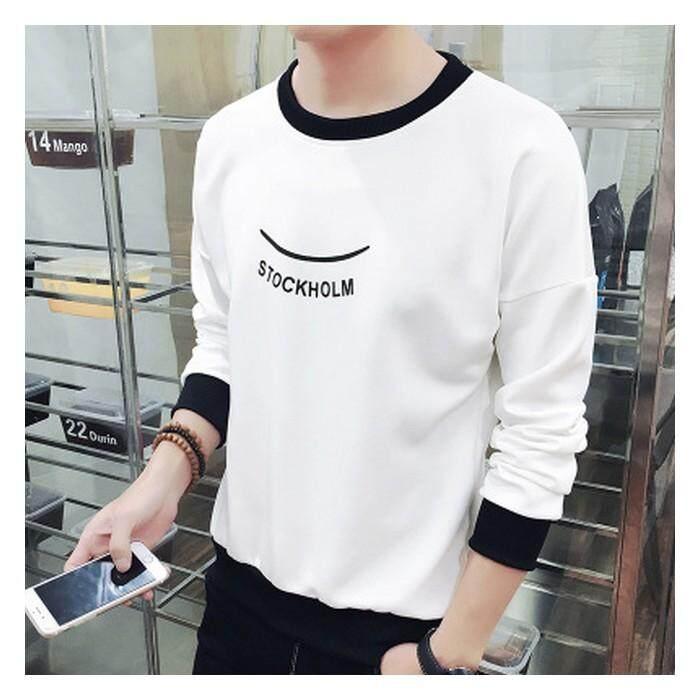 [Pre-Order] JYS Fashion Korean Ulzzang Style Men Sweater Collection-233-T02 (White)(ETA: 2021-12-31)