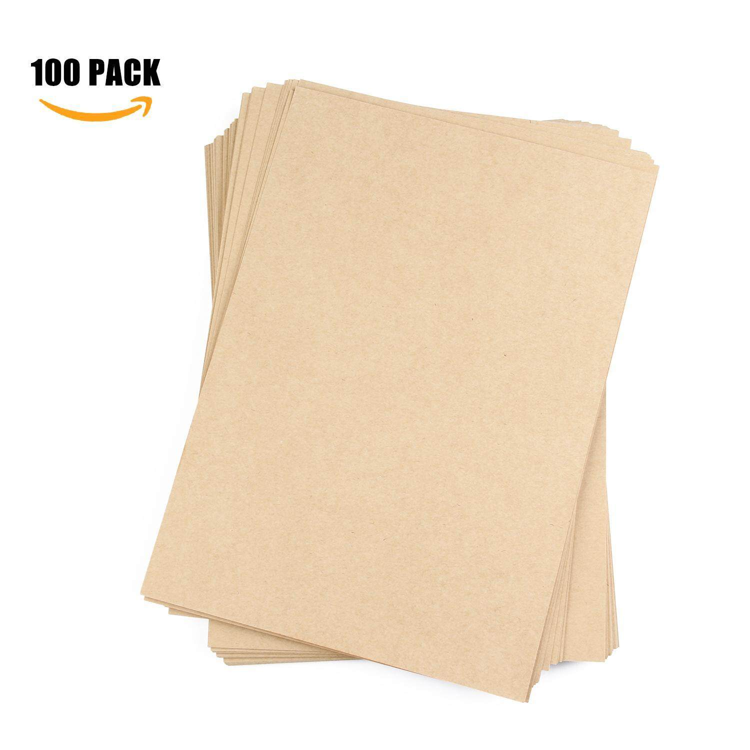 yooc Kraft Paper, Pack Of 50 Natural Packing Wrapping Kraft Paper - 8.26x11.69inch - intl