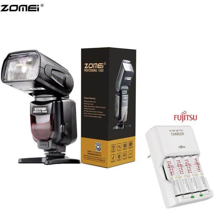 ZOMEI ZM-430T Manual ttl Camera Flash with Fujitsu basic Charger Battery Set