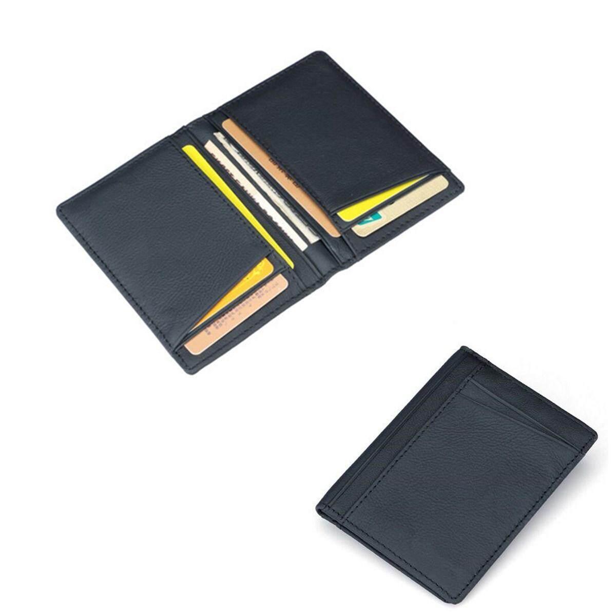 Men PU Leather Slim Bifold Credit Card Holder Mini Money Wallet ID Case Holder