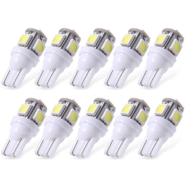 10X White T10 LED Car Light Bulbs T10 W5w 5 SMD 5050