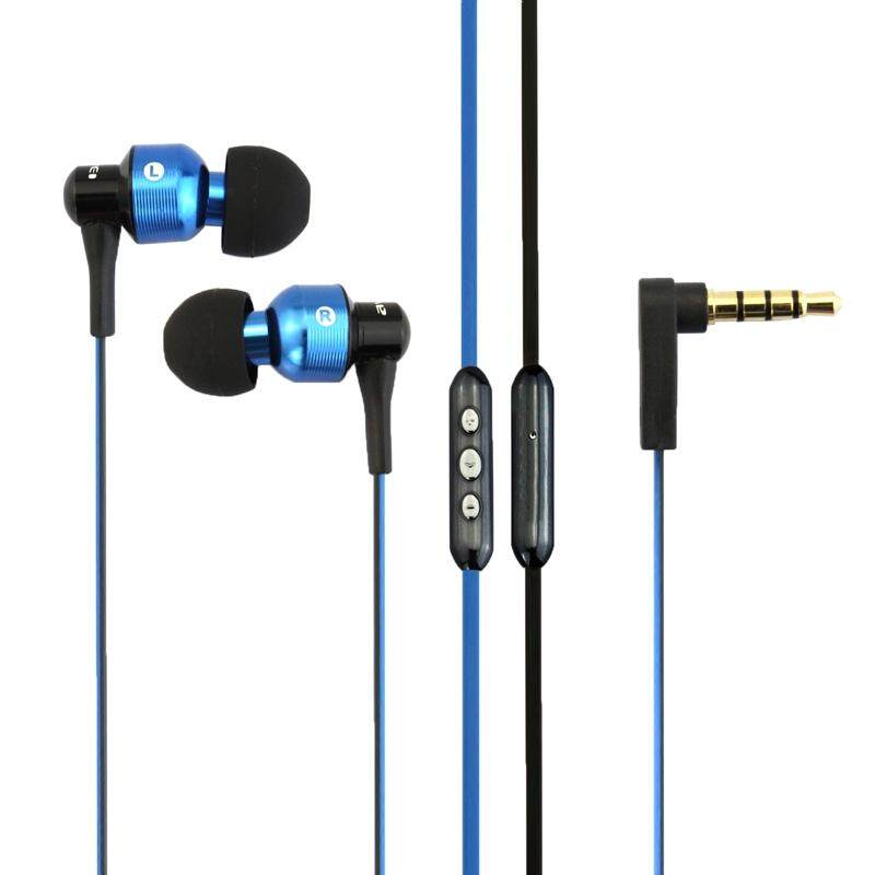 awei TE55VI 3.5mm Plug Noodle Wire Style In-ear Stereo Earphone with Mic, For iPhone, Galaxy, Huawei, Xiaomi, LG, HTC and Other Smart Phones(Blue)