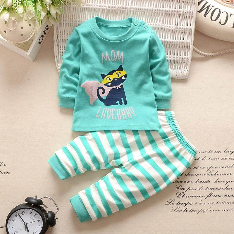 859dcb50faf 2 pieces in Pack Printing Pattern Pajamas Baby Newborn Kids Children Romper  Long Sleeve+Long