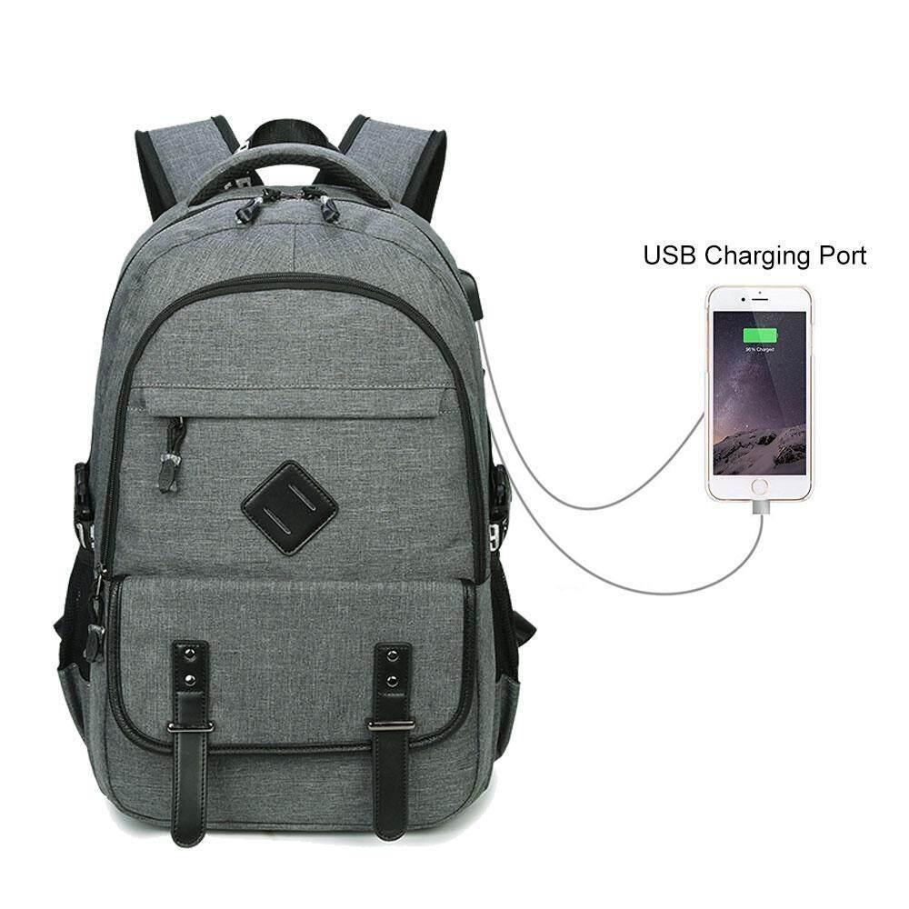 goges New Women Anti Theft Waterproof USB Charging Laptop For Men Travel  Backpack Customs Lock Black 0fad3bab49