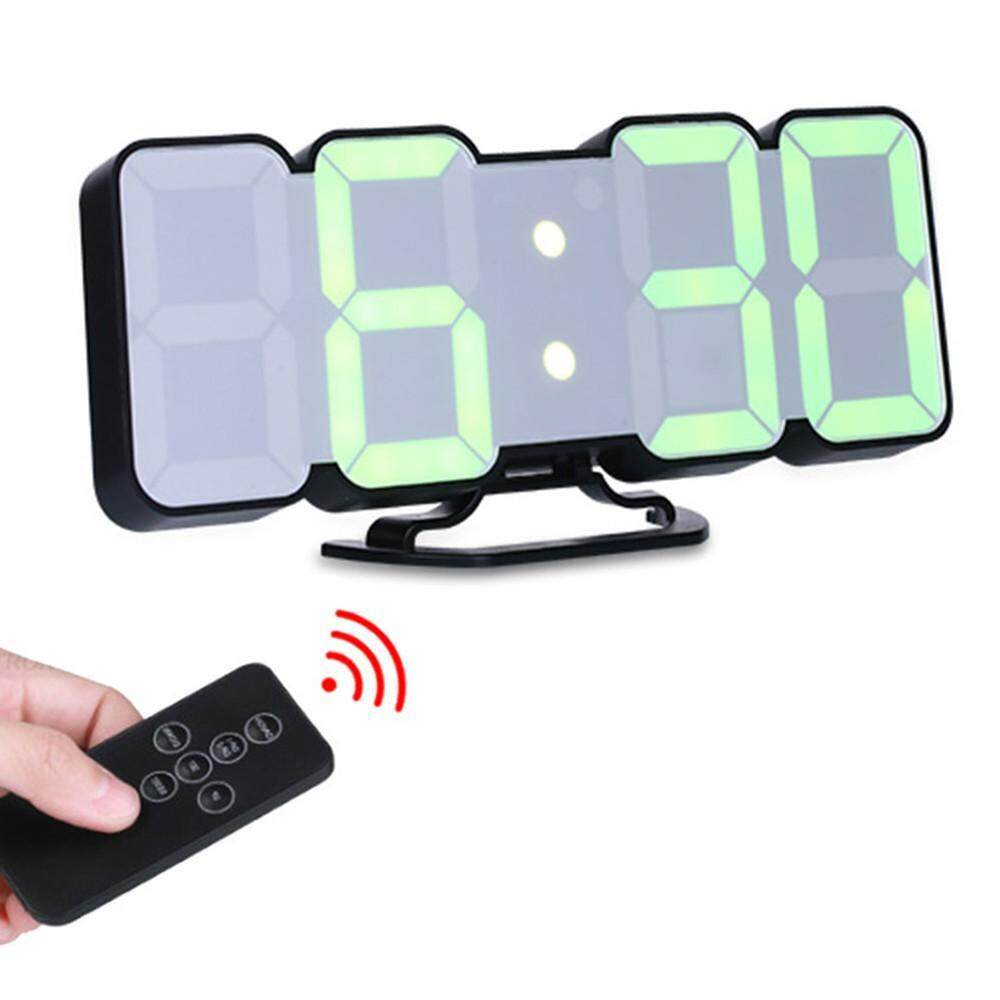 googmnof Kobwa Remote Control 3D LED Digital Alarm Clock For Table Or Wall With 3 Color Modes, 3 Levels Brightness, Thermometer (℃/℉ Switch) And More, Black