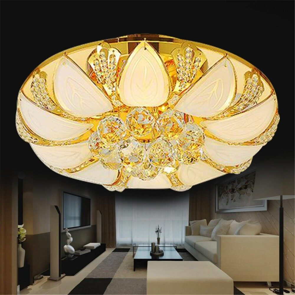Luxury Crystal Ceiling Light Pendant Lamp Gold Fixture Light Home Decor Singapore