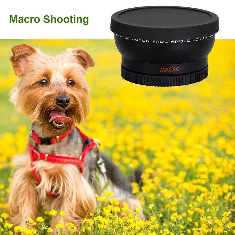 Fuan 58 Mm 0.45X Wide Angle Lensa dengan Lensa Makro untuk Canon Nikon Kamera Sony