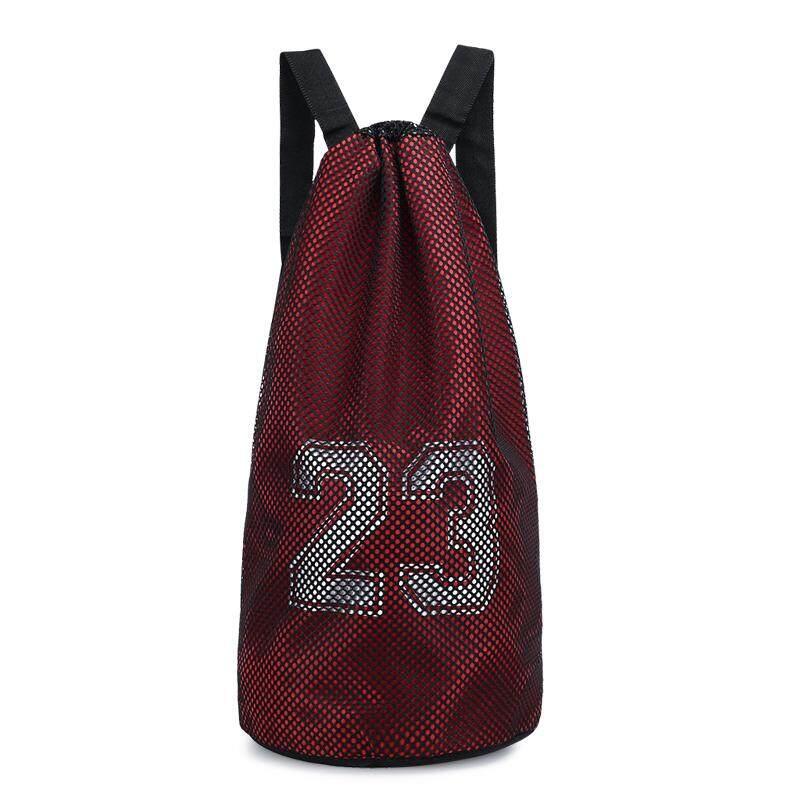 Mens Basketball Drawstring Bag Outdoor Fitness Waterproof Sports Backpack