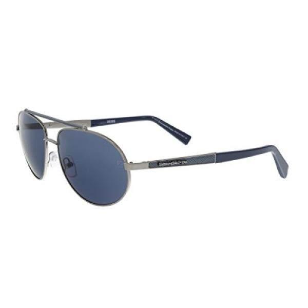 Ermenegildo Zegna EZ0037/S 12V Blue/Silver Aviator Sunglasses