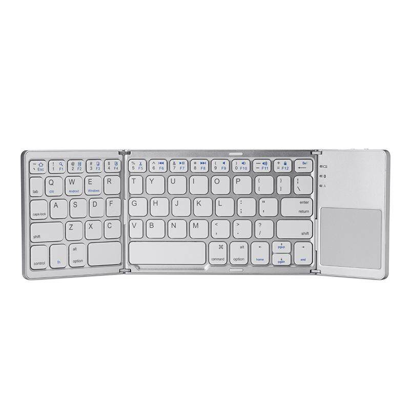 6b9bd492cf3 A18 Portable Twice Folding Bluetooth Keyboard BT Wireless Foldable Touchpad  Keypad for IOS/Android/