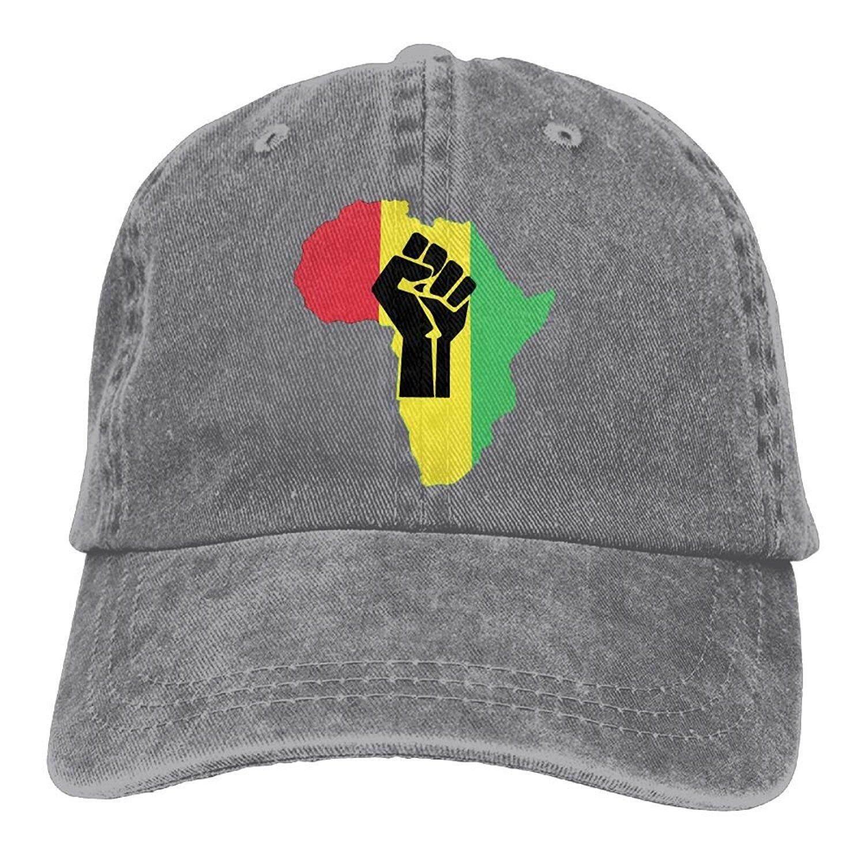 Asal Afrika Black Power Potongan PNG Unisex Dewasa Jean Bisa Diatur Topi Ayah-Intl