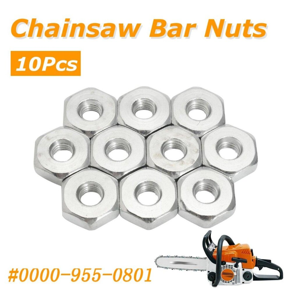 Bar Nuts (10) for Stihl, Solo Chain Saws