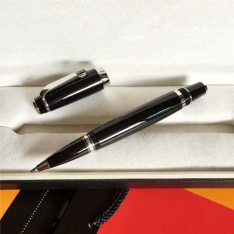 High Quality Professioanl Luxury Carbon Fiber Material Handle Writing Gel Roller Ballpoint Pen .