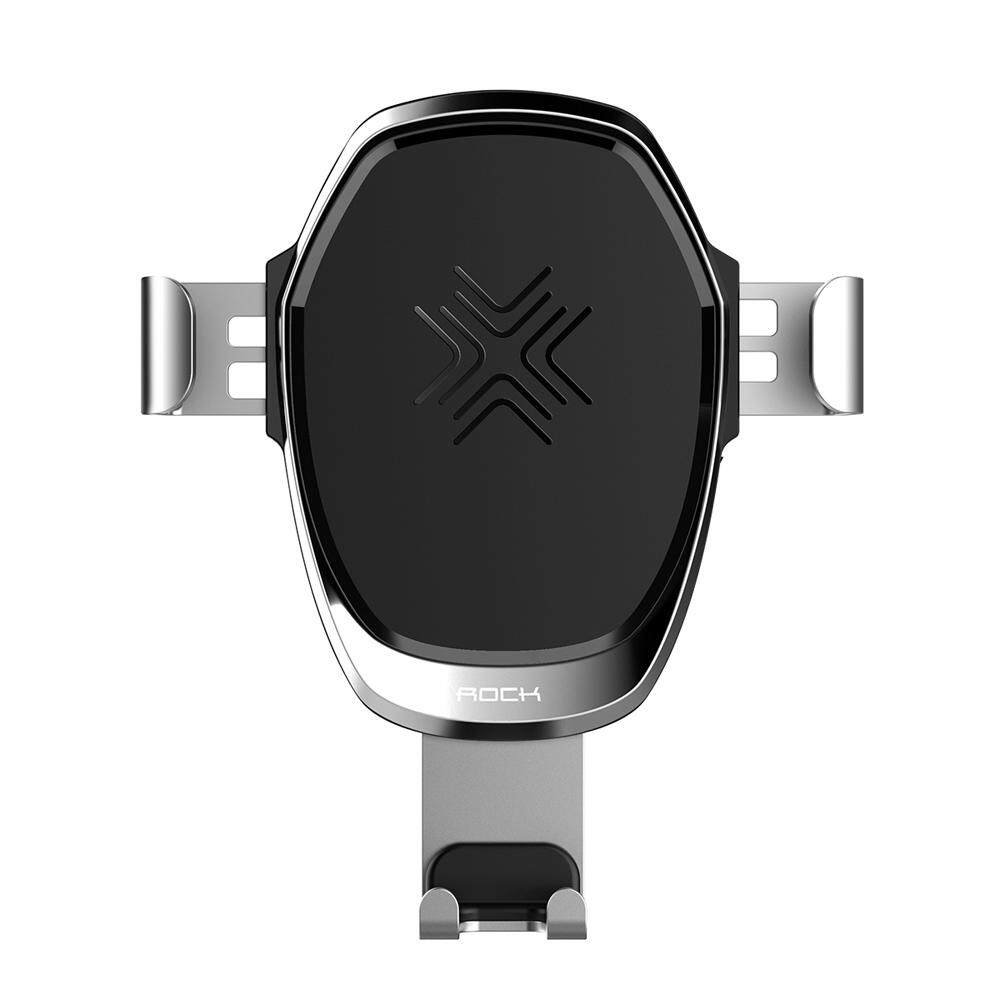 Cheap Rock Wireless Charging Gravity Car Mount 2 In 1 10W Qi Standard Phone Charger Holder For Iphone X 8 Plus Samsung Galaxy S8 Plus Note 8 S9 Plus Aluminum Alloy Adjustable Intl Online