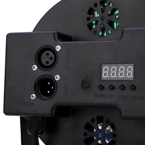 18W RGB LED FLAT PAR LIGHT STAGE LAMP DISCO DJ BAR EFFECT UP LIGHTING (BLACK)