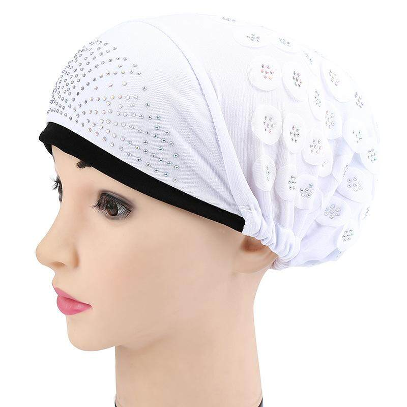 【Vigo】new Daftar Waktu Terbatas Khusus Promosi Modis Multifungsi Muslim Regang Sorban Wanita Polos Warna Kepala Syal Jilbab Topi chemo Dapat Disesuaikan Tutup-Internasional