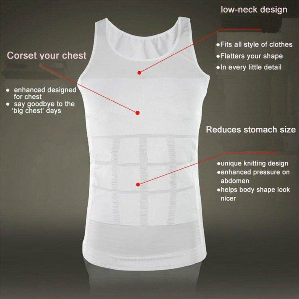 Hình ảnh GoSport Nam Body Slimming Tummy Shaper Bụng Quần Lót định hình Eo Váy Áo Sơ Mi