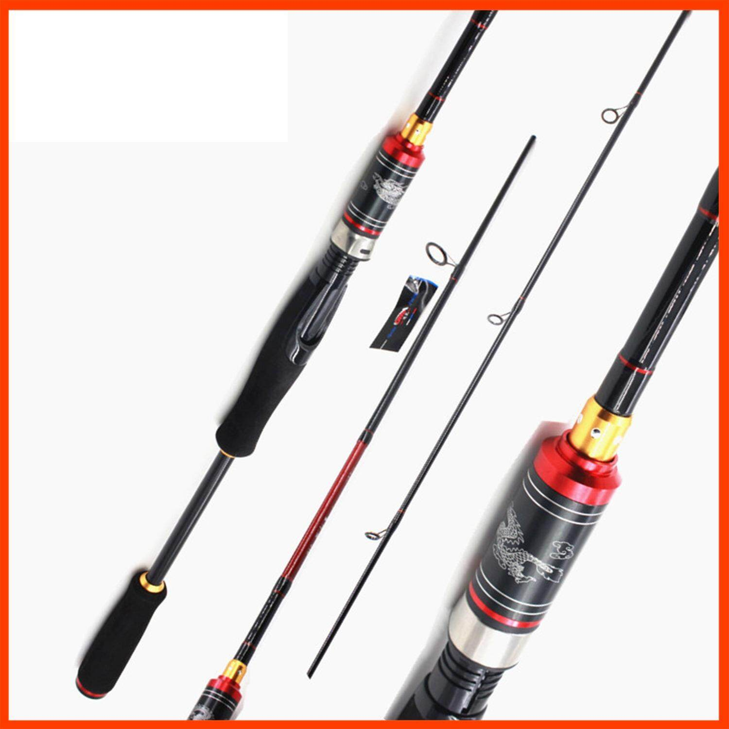 Buy Straight Handle 2 1M Ultralight Carbon Spinning Casting Lure Fishing Rod High Performance Spinning Travel Pole Sea Fishing Pole Sea Rivers And Lakes Pond Reservoir Stream Fast Action Fishing Shook Rod Intl On China