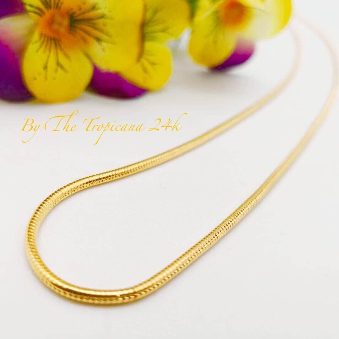 Emas Sadur Korea The Tropicana 24k Goldplated (Necklace)(Rantai)