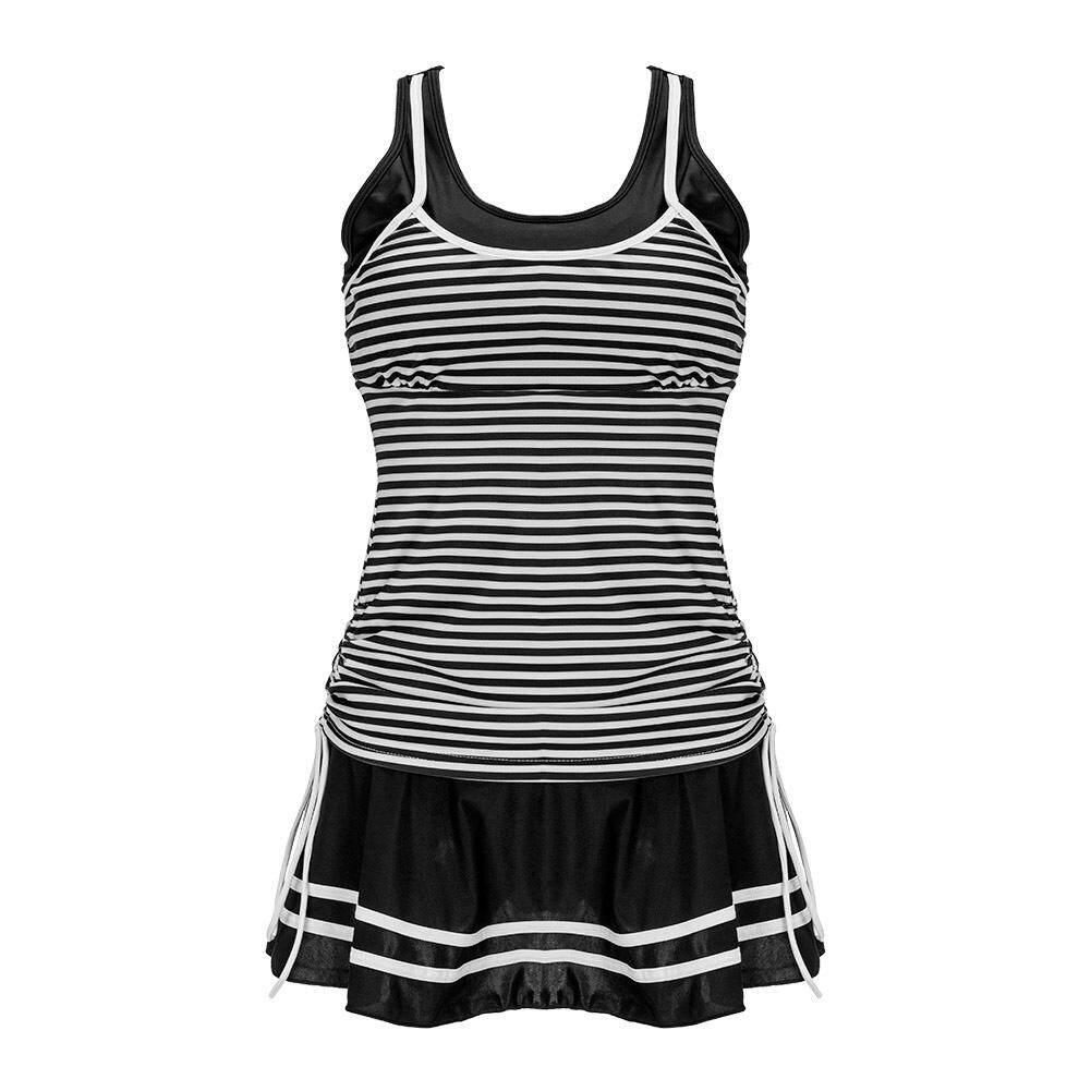 cba8a16af3a1f Women Tankini Bikini Set Push up Padded Bathing Suit Swimwear (Black)(M)