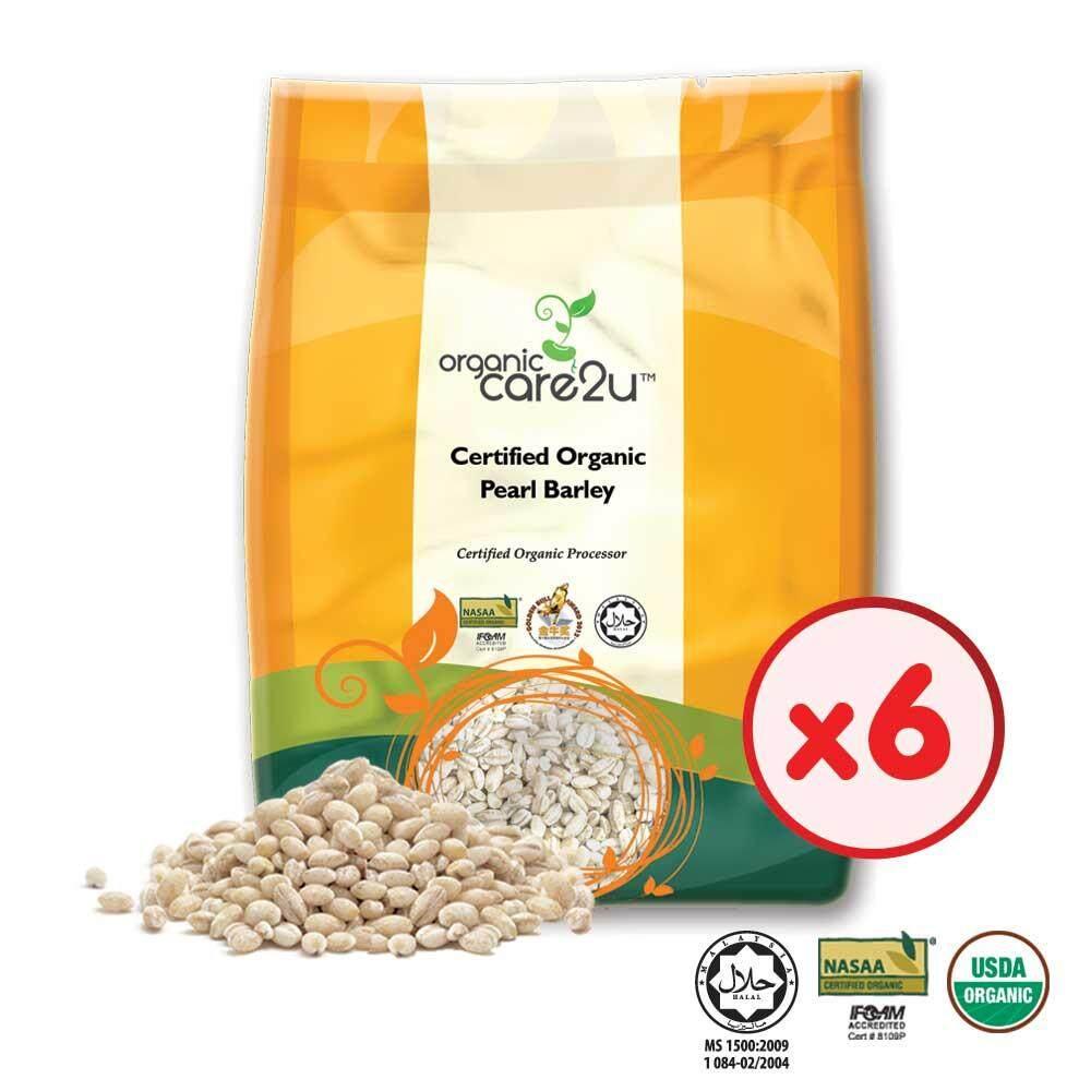Organic Care2u Organic Pearl Barley (400g x 6 Packs)