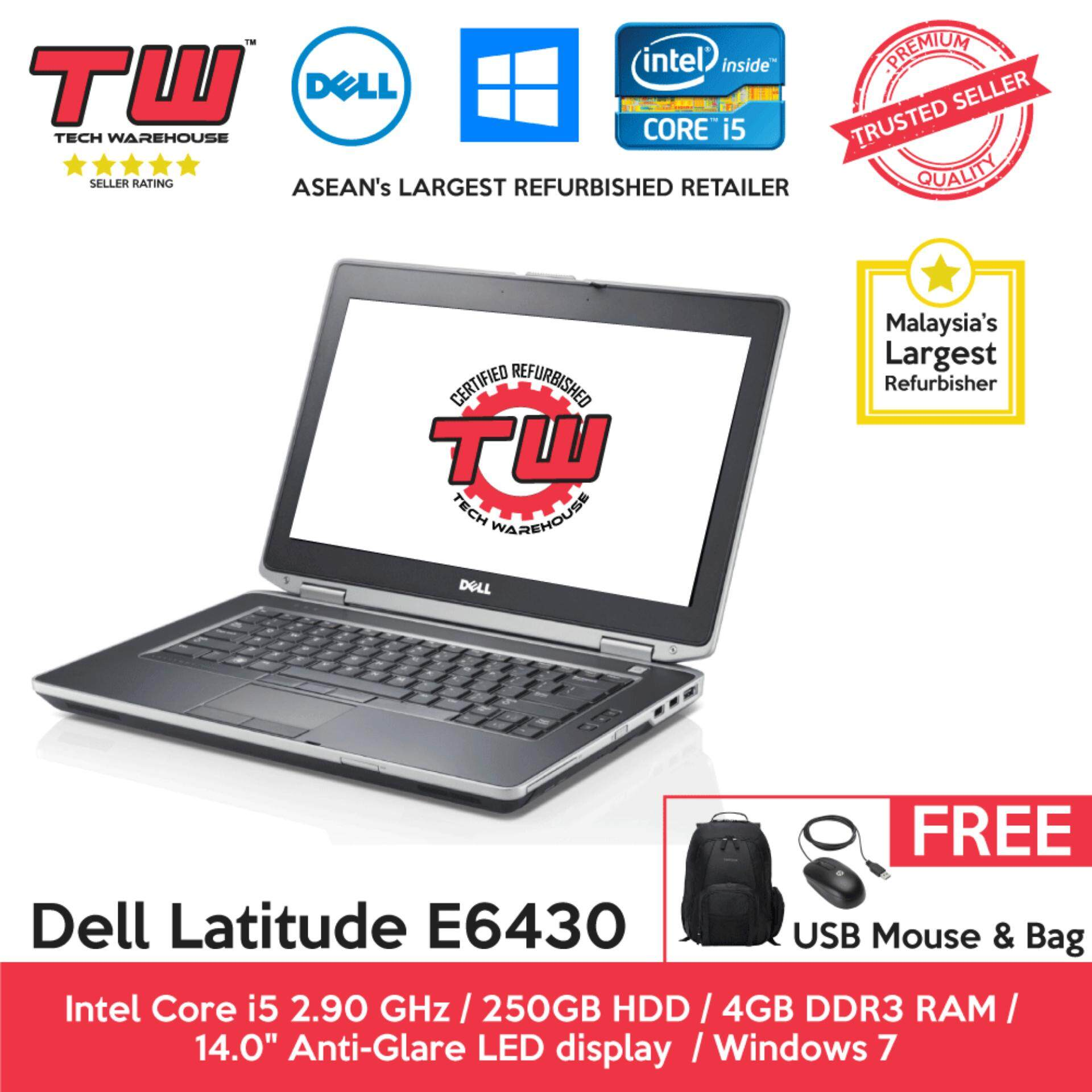 Dell Latitude E6430 Core i5 3rd Generation / 4GB RAM / 250GB HDD / Windows 7 Laptop / 3 Month Warranty (Factory Refurbished) Malaysia