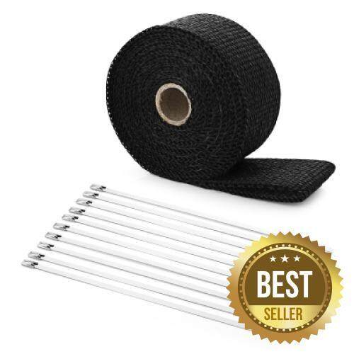 5M Auto Exhaust Tube Heat Wrap Tape for Car Motorcycle (BLACK)