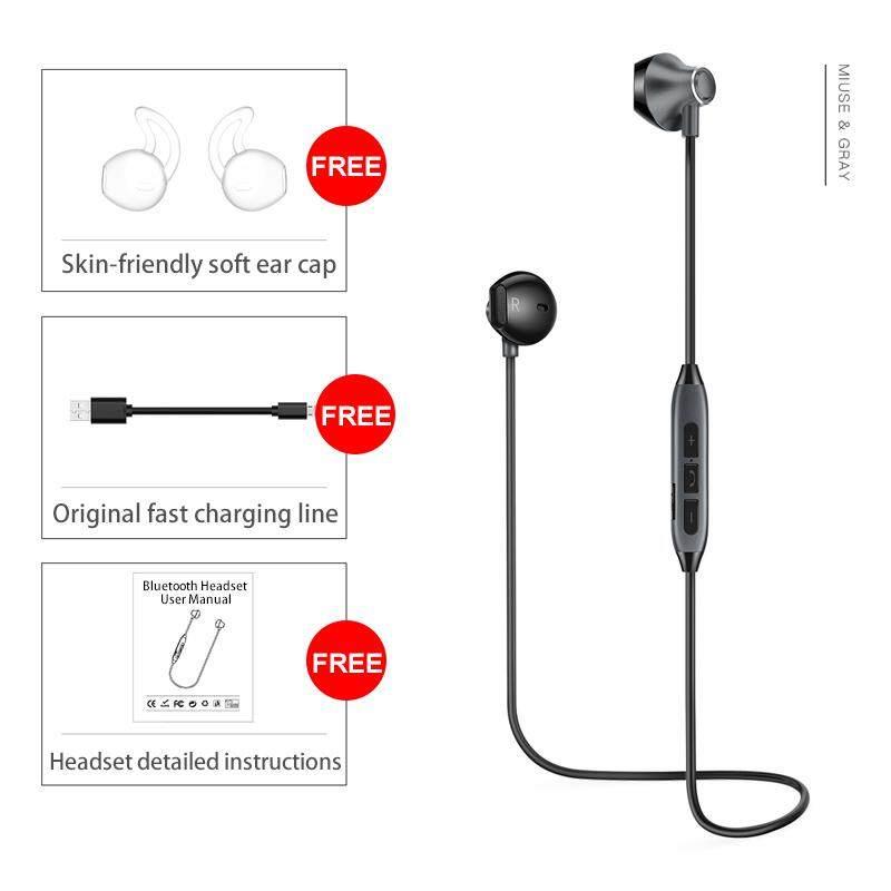Picun H2 Mode Terkini Bluetooth Earphone Earpods Alat Pendengar dengan Mikrofon Magnetik Earphone Nirkabel Olahraga Lari Bass Bluetooth Headset untuk Smartphone PC Perangkat Bluetooth MP3