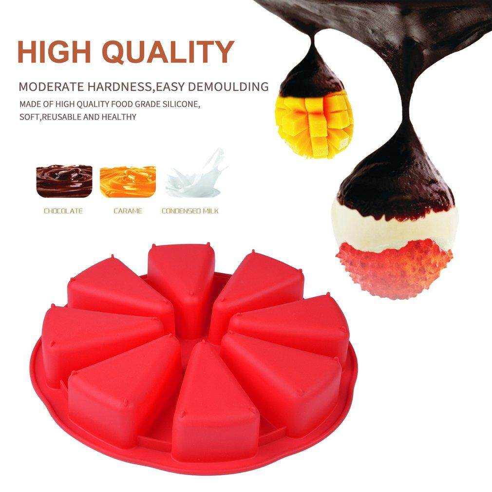 Yika 8 Cavity Scone Pans Silicone Cake Mold Pastry Mould Oven Bread Pizza Bakeware