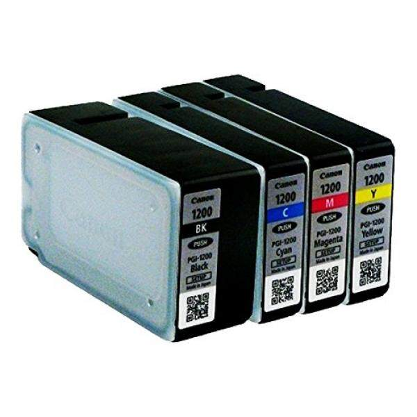 CANON MAXIFY PGI-1200 Katrid Tinta Asli Paket Lengkap Multi Pack (Hitam, Cyan, Magenta, Kuning) CANON MAXIFY MB2020 MB2030 MB2320 MB2050 MB2350 MB2120 MB2720-Intl