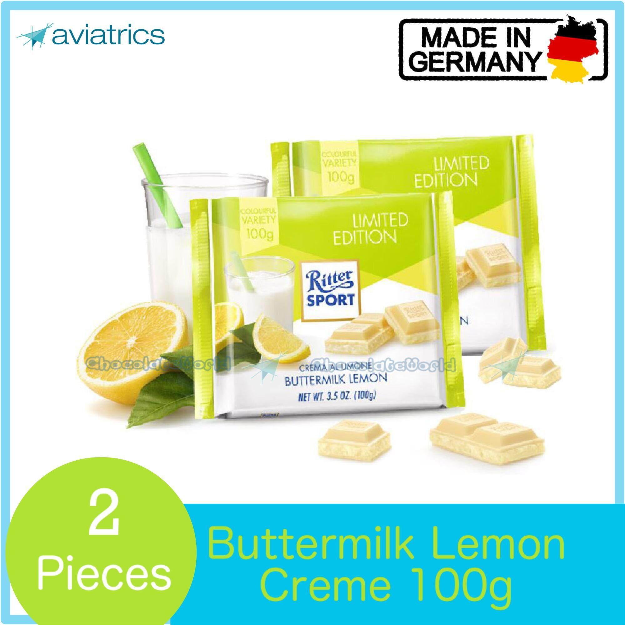 Ritter Sport Buttermilk Lemon 2 X 100g (Made in Germany)