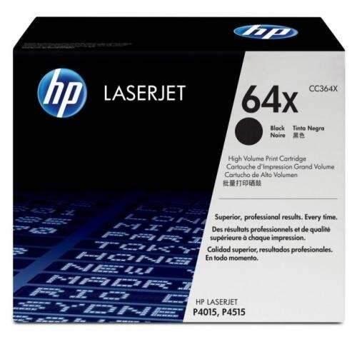 HP 64X Black LaserJet Toner Cartridge (CC364X)