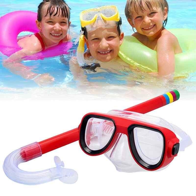 Costel 1 ชิ้นพีวีซีเด็กดำน้ำดำน้ำดูปะการังว่ายน้ำดำน้ำลึกและหน้ากากแว่นตากระจกเลนส์ - นานาชาติ.