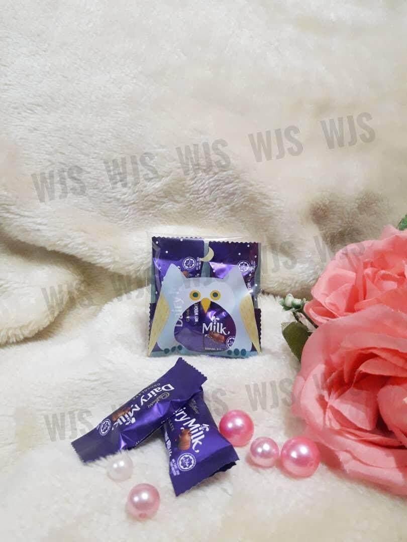 (MULTIPLE SIZES) WJS 100pcs 100 pcs Cute Blue Owl Burung Hantu Kuih Raya Wrapper