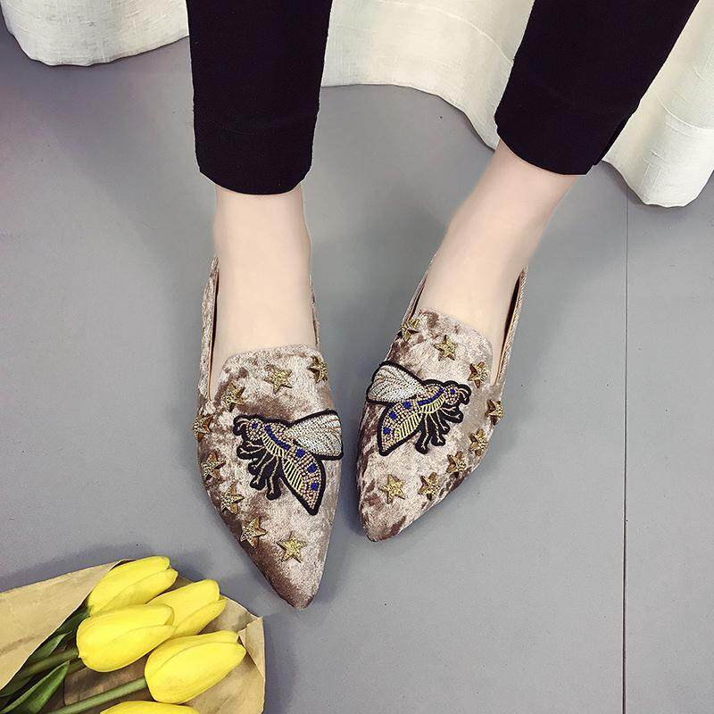 58cbd09ac74 HOT Womens Boat Shoes Casual Ballet Slip on Flats Loafers Single Shoes Khaki